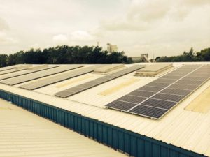 50kW roof top solar panels