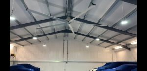 destratification fans, ceiling fans, industrial heating, industrial cooling,